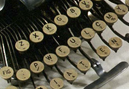 Oregon Historical Society's picture of Abigail Scott Duniway's typewriter