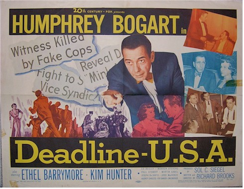 Deadline U.S.A. movie poster