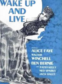 Wake Up and Live movie poster with Winchell billed second