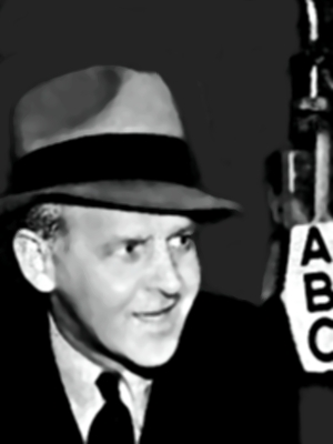 Winchell at the ABC microphone