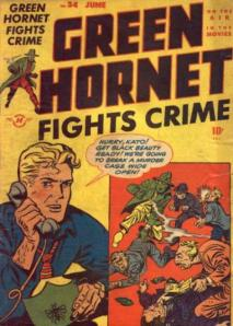 A 1947 Green Hornet comic cover