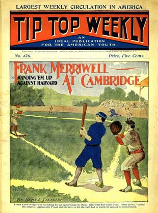 Tip Top Weekly baseball game cover, 1904