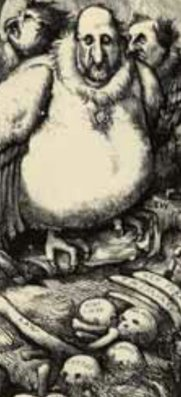 Part of a Nast depiction of Tweed and his cronies as vultures.