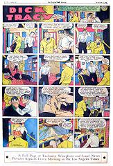 Color Sunday comics page