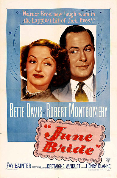 Davis and Montgomery, looking askance at each other on the movie poster