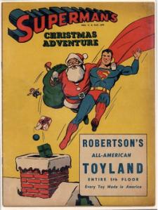 Superman and Santa on a promotional comic from 1940