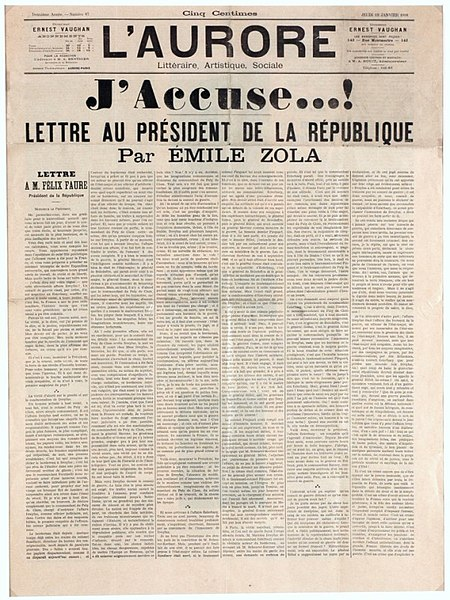 Newspaper front page 1898