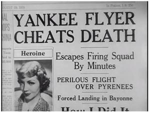 Yankee Flyer Cheats Death headline