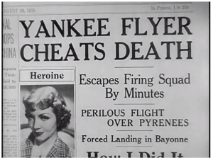Yankee Flyer Cheats Death headline